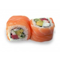 Roll Salmon y Copito de Nieve